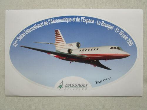 AUTOCOLLANT STICKER AUFKLEBER DASSAULT AVIATION FALCON 50 LE BOURGET 1995