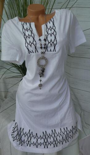 Sheego señora jersey vestido vestido GR 857 896 40 hasta 58 blanco con patrón nuevo