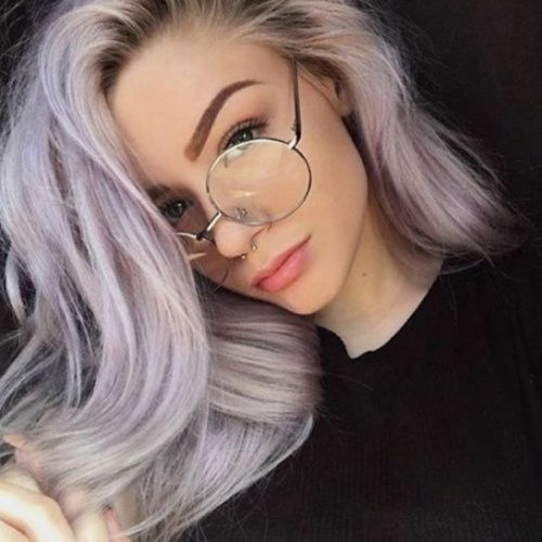 Women Men Large Oversized Metal Frame Round Clear Lens Eye Glasses Nerd For Free