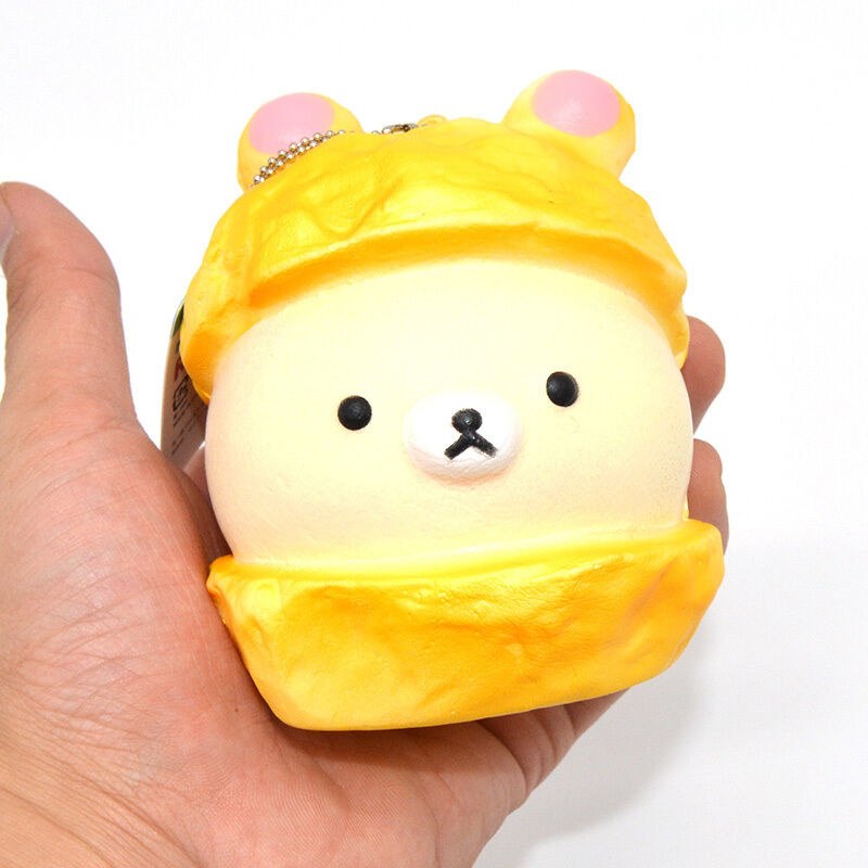 Squishy Ball With Holes : Licensed Kawaii Cartoon Rilakkuma Christmas Squishy Bread Scented Ballchain Toy