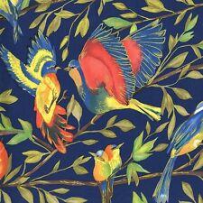 Bird Kiss Metallic Blue Michael Miller Fabric FQ + More 100% Cotton  Craft