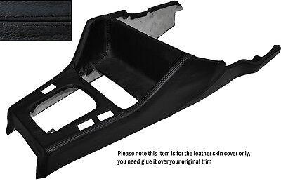 BLACK STITCH GEAR SURROUND LEATHER SKIN COVER FITS BMW 3 SERIES E30 84-91