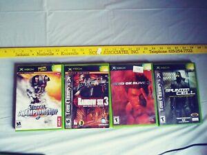 Xbox-game-lot-Unreal-Rainbow-6-Dead-or-Alive-3-Splinter-Cell