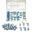 Grease Fitting Metrik Standard 110-Piece Kit  Straight Angle Zerk Assortment Set