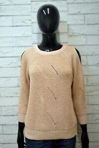 GUESS-Pullover-Donna-Taglia-M-Maglione-Maglia-Cardigan-Rosa-Sweater-Women