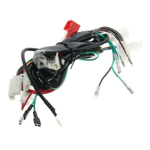 motorcycle wiring harness machine electric start wiring loom harness rh ebay com motorcycle wiring loom tape motorcycle wiring loom connectors