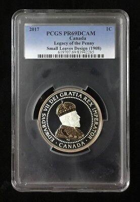 2017 Canada Silver Legacy Of Penny 2oz 1908 Leaf Gilt 9999 FR Coin PF69UC NGC