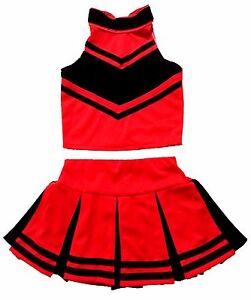 Kinder Madchen Mini Cheerleader Kostum Fasching Halloween Kleid