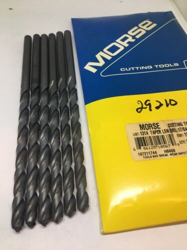 "6 Morse Drill Bits Taper Length HSS 17//64/"" 118 Degree 6 1//4/"" OAL"
