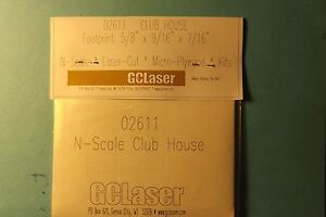 CLUB HOUSE KIT N SCALE by gc laser # 02611