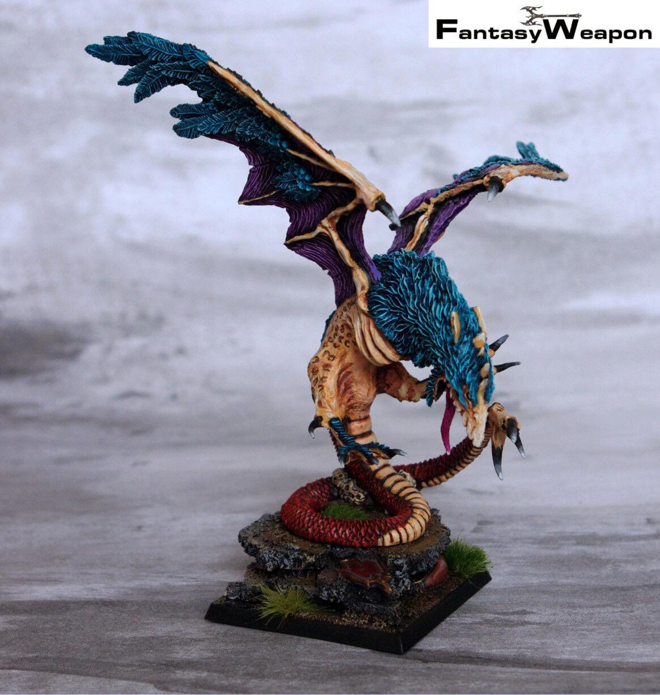 Basilisco Pro Pintado WFB edad de Sigmar Warhammer monstruo WFB