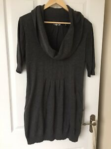 Sweater Uk Grey 42 Guess Neck With Large Oversized Cowl Dress Italian Jumper 6 z1wEwdqF