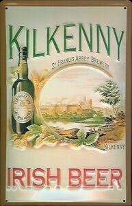 KILKENNY-IRISH-BEER-Vintage-Metal-Pub-Sign-3D-Embossed-Steel-Home-Bar