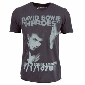 fc41108b Image is loading David-Bowie-T-Shirt-Vintage-MensOfficial-1978-Heroes-