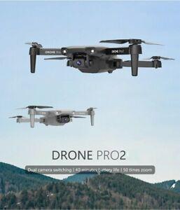 DRONE PROFESSIONALE 4K CON DOPPIATELECAMERA WIFI CON 2 BATTERIE