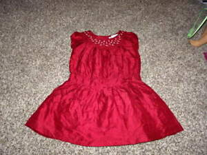 JANIE-AND-JACK-2T-RED-FLORAL-SILK-DRESS-SMOCKED-UPTOWN-HOLIDAY