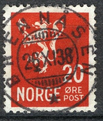 Norway 1937 Nk 205 Son Superb Brennåsen 26-xi-38 va