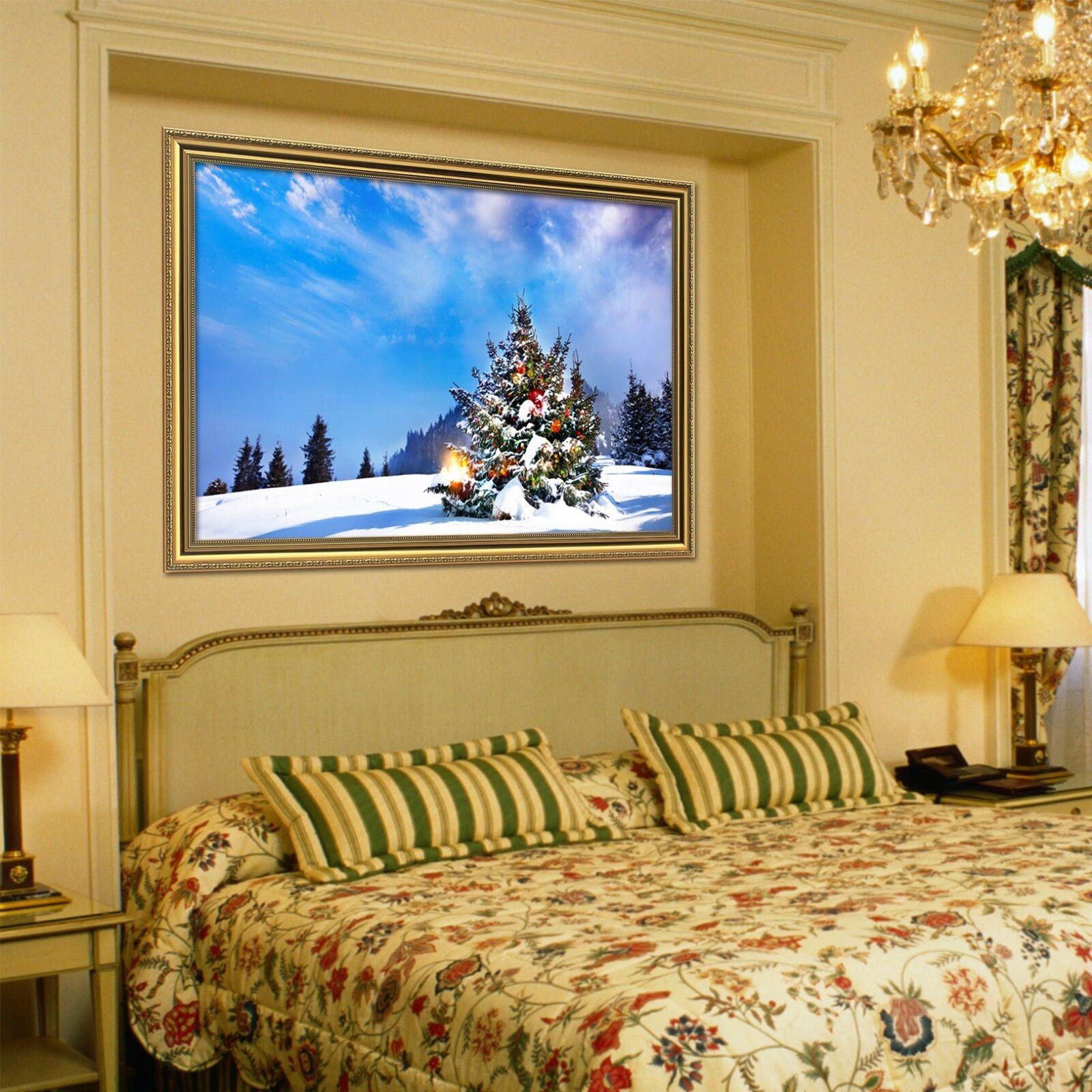 3D Christmas Tree 6 Framed Poster Home Decor Print Painting Art AJ WALLPAPER AU
