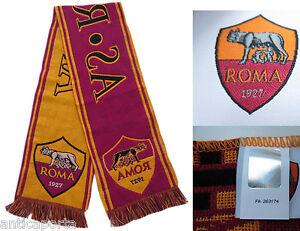 Bufanda-Roma-Original-Oficial-As-Roma-Jacquard-Bufanda-Estadio-Envio