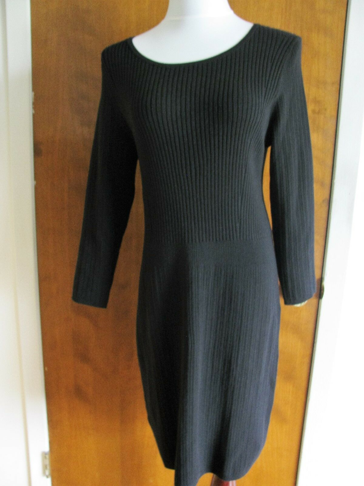 Gap damen schwarz Cotton Viscose Sweater Dress Xlarge NWT Fits Größe Large