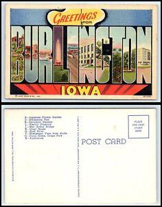 IOWA-Postcard-Greetings-From-Burlington-K55