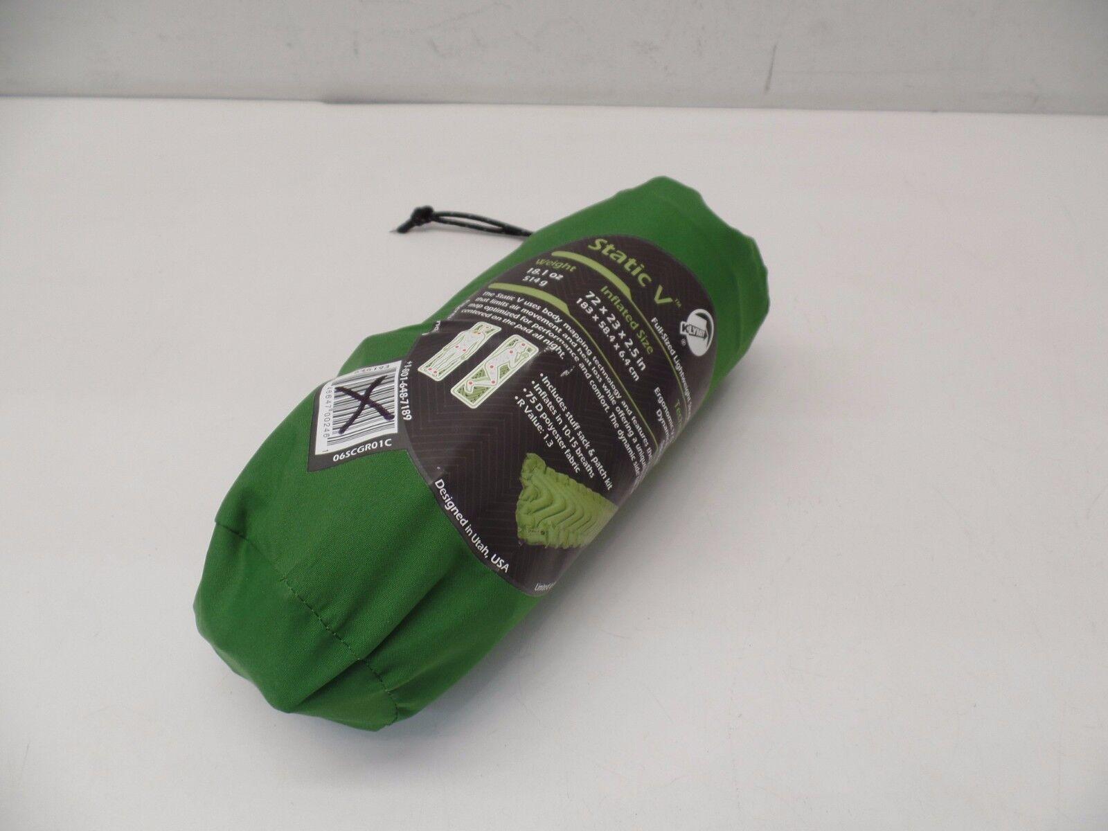 Klymit Static V Full Sized Sleeping Pad -- verde