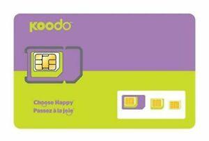 Koodo-Multi-SIM-Card-Triple-Format-Nano-Micro-Regular-LTE-Canada-Prepaid