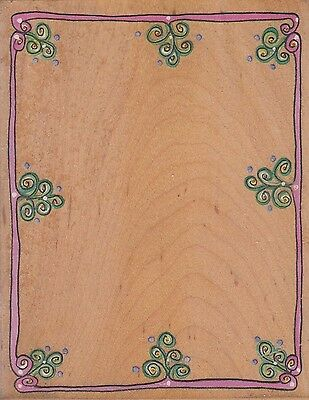 """angled border 32972 stampa rosa Wood Mounted Rubber Stamp 1 1//2 x 3 1//4/"""""""