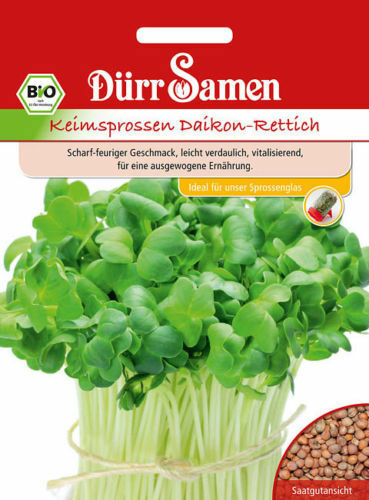 "EUR 3,45  // 100 g Dürr Bio Keimsprossen /"" Daikon-Rettich   Keimsaaten"