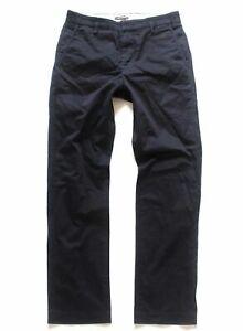 Herren-Vintage-Dockers-Levi-039-S-Reissverschluss-Stretch-Schwarz-Baumwolle-Chino-Hose-w29-l30