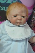 "Reborn Sheila Michael doll ""Sweet Heart Rose Awake"" Red headed baby boy doll"