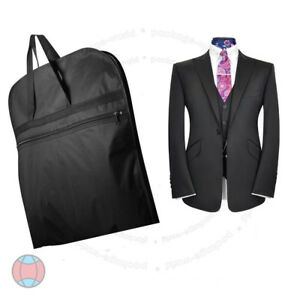 New-Black-Suit-Carry-Cover-Garment-Travel-Storage-Protector-Bag-Holder-Carrier