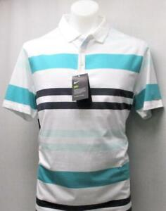 New-Mens-Large-Nike-Dri-Fit-Multi-Coloured-Striped-golf-polo-shirt-NWT