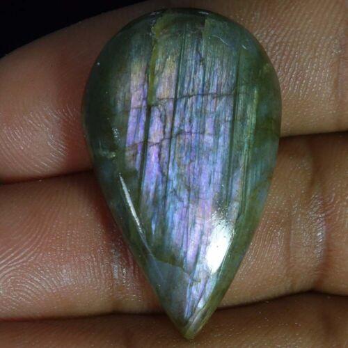 100/% natural multi purple flash labradorite pear cabochon loose gemstone