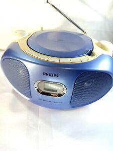 Philips-AZ102N-05-Blue-Yellow-CD-Soundmachine-MW-FM-Radio-Boombox-Portable-DBB