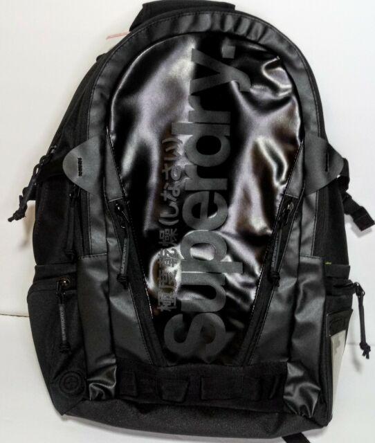 half off factory authentic cheaper Superdry Mono Tarp Backpack Black RARE BRAND NEW