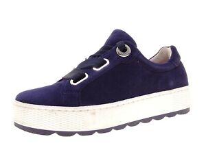 Gabor Damen Schuhe Sneaker Laufschuhe Freizeitschuhe Gr 38,5 Leder Blau