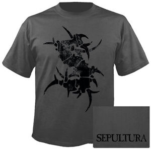 SEPULTURA - Black logo on grey T-Shirt