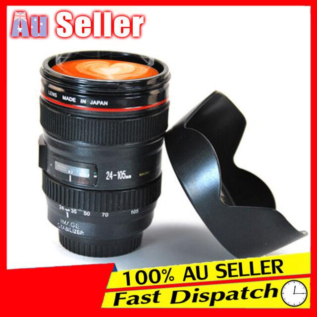 Coffee Travel Mug Multi Purpose AU Portable Camera Lens Cup Tea 24-105mm