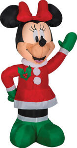 CHRISTMAS SANTA DISNEY MINNIE MOUSE WINTER OUTFIT  AIRBLOWN INFLATABLE 3.5 FEET