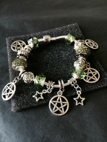 Halloween Uniqe Silver Plated Snake Charm Braclets Dragons Pentagrams Magic
