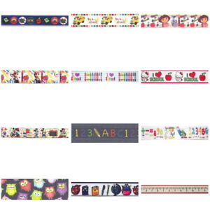 SCHOOL-THEME-Ribbon-By-the-yard-great-Scrapbooking-amp-Hair-Bow-Making-Crafts