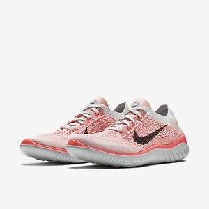 new style 09084 922e6 Image is loading Nike-Free-RN-Flyknit-Crimson-Pulse-Pure-Platinum-