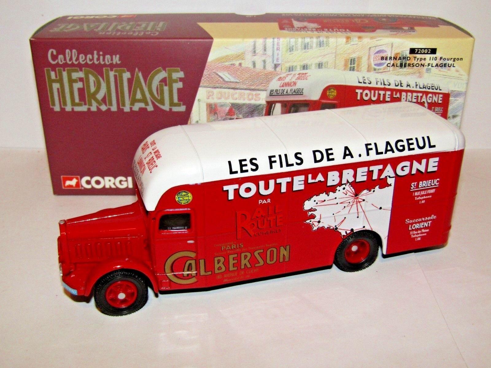 CORGI BERNARD TYPE 110 FOURGON CALBERSON-FLAGUEL 1 50 72002