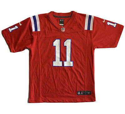 Nike Patriots Julian Edelman Jersey Throwback Alternative Red Youth Size Large