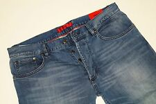 Neu - Hugo Boss - W34 L34 - Stretch - RED 677/8  Blue Denim Regular Jeans 34/34