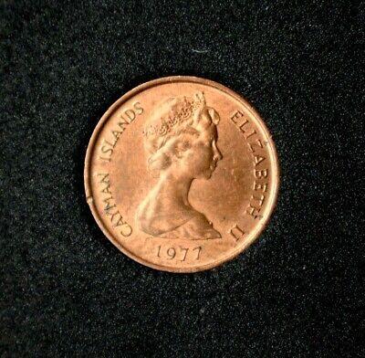 Great Cayman Thrush Queen Elizabeth II Cayman Islands 1987-1 Cent Bronze