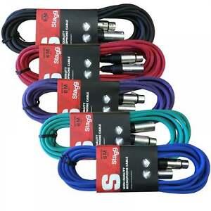 Stagg 5 X 6m Xlr Microphone Plomb & Signal Audio Câble Multicolore Pack-afficher Le Titre D'origine Ods9cjed-07171641-763945702