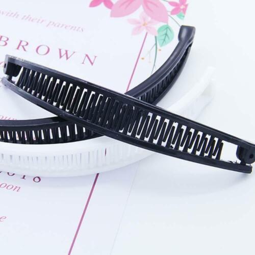 Hairpin Banana Shape Plain Hair Ponytail Holder Comb Clip Accessories UK UK