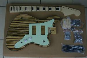 DIY//Build Your Own GUITAR KIT J Master Offset Sherwood Green w//Block Inlay Neck